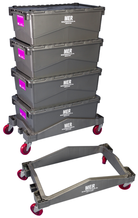 Plastic Totes and Tote Dolly