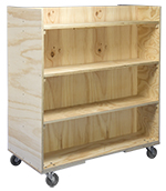 2-Sided book cart with eight shelves